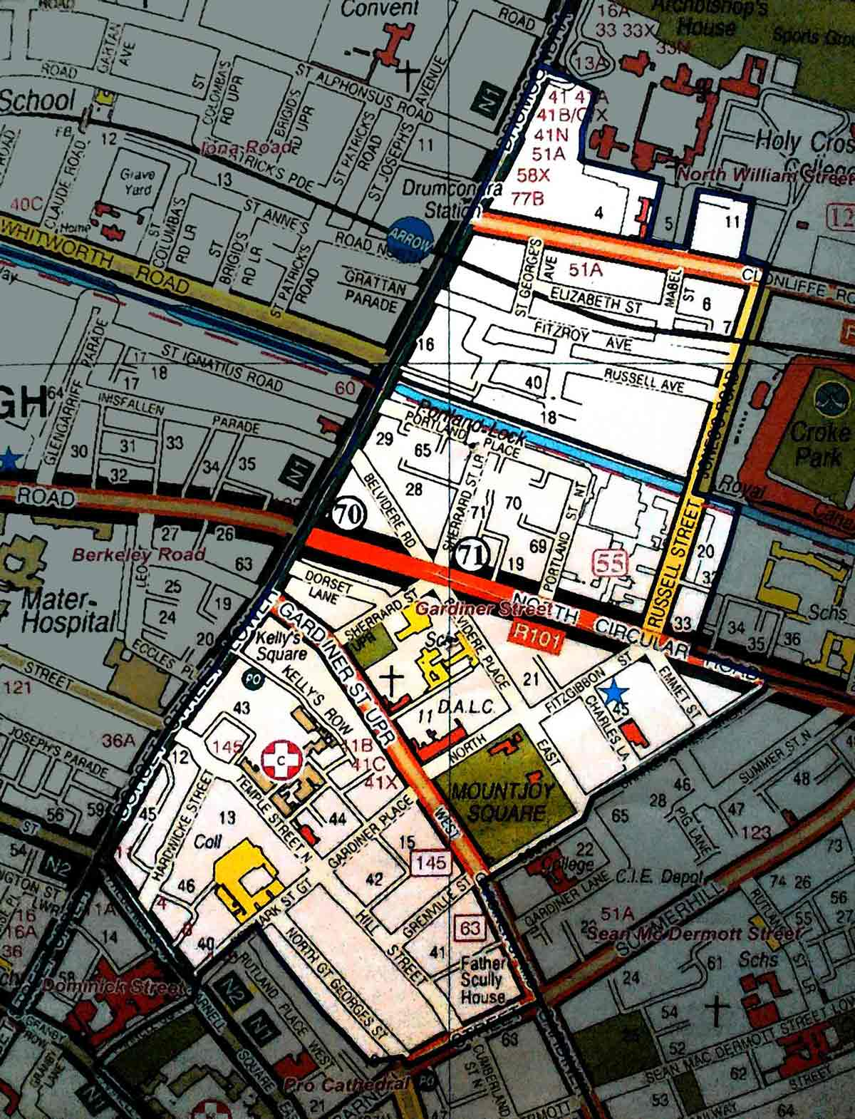 Map of Gardiner Street Parish
