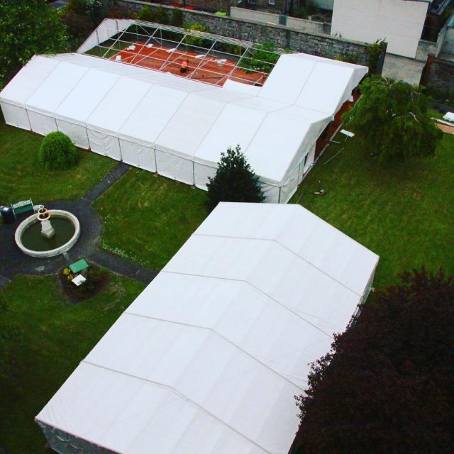 Marquees being erected in the grounds of the Jesuit Communityhellip