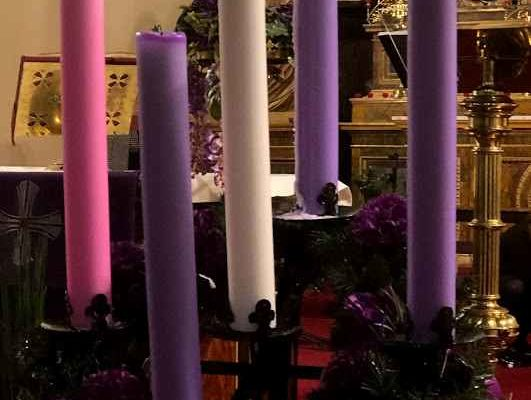 Advent Wreath at St Francis Xavier's Church